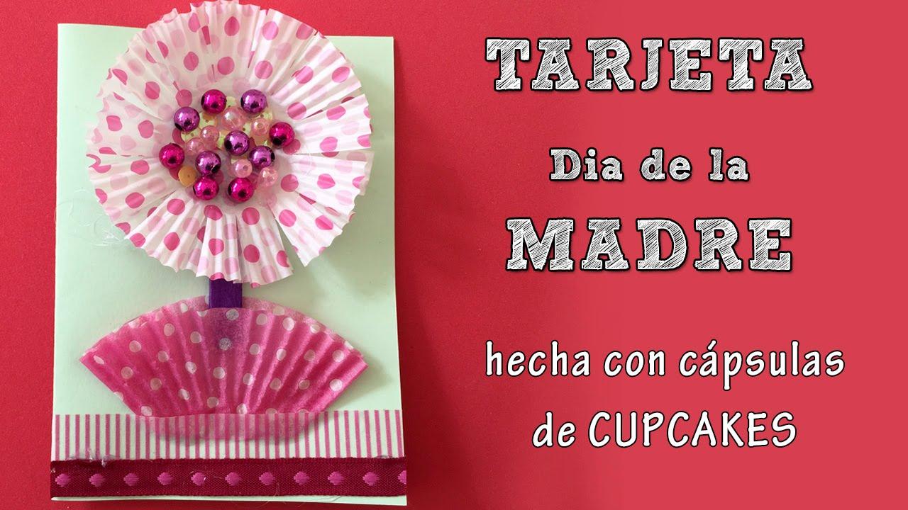 tarjeta d u00eda de la madre  flor de cupcake