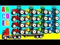 COLOR TRACTOR and Cars Cartoon for Kids with Nursery Rhymes