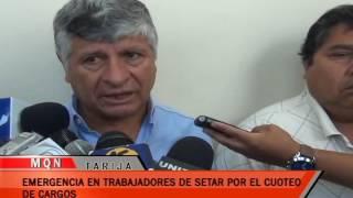 EMERGENCIA DE TRABAJADORES DE SETAR POR EL CUOTEO DE CARGOS