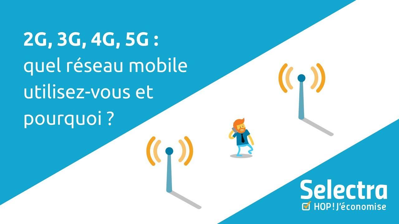 2G, 3G, 4G, 5G : quel réseau mobile utilisez-vous et pourquoi ?