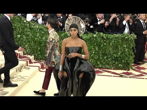 Solange Knowles on the red carpet for the MET Costume Institute Gala