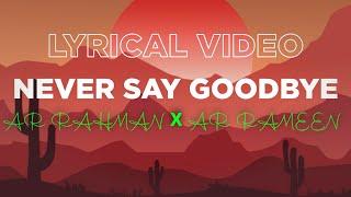 Never Say Goodbye Lyrical Video   Never Say Goodbye Lyrics   #SusantSinghRajput #SanjnaShangi