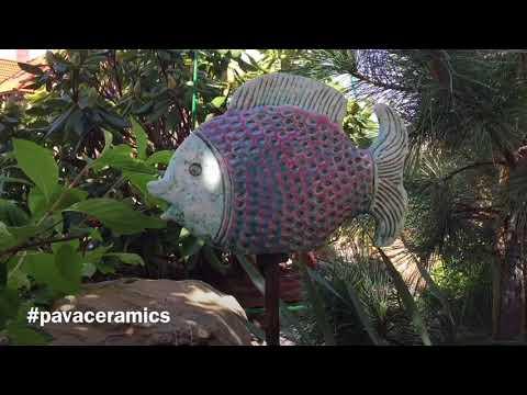 Decorative Ceramic Fish Garden Stake