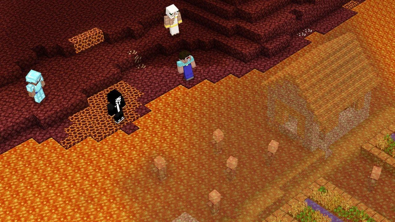UNDER LAVA VILLAGE CHELLENGE! WATER SECRET Minecraft NOOB vs PRO vs HACKER vs GOD! 100% TROLLING