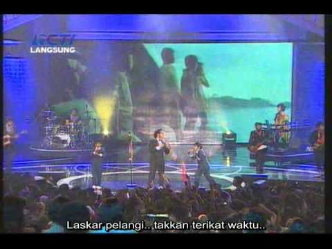 Nidji - laskar pelangi @ Indonesian Movie Award 2009 (with lyrics)