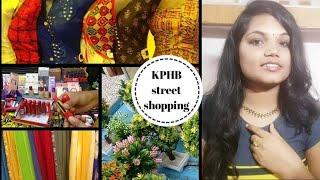Kphb street shopping in telugu   Hyderabad street shopping  !!