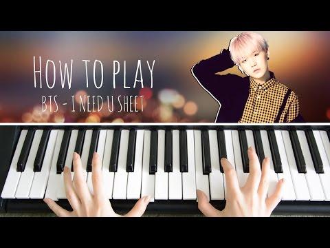 BTS SUGA - I NEED U - sheet music | PIANO TUTORIAL