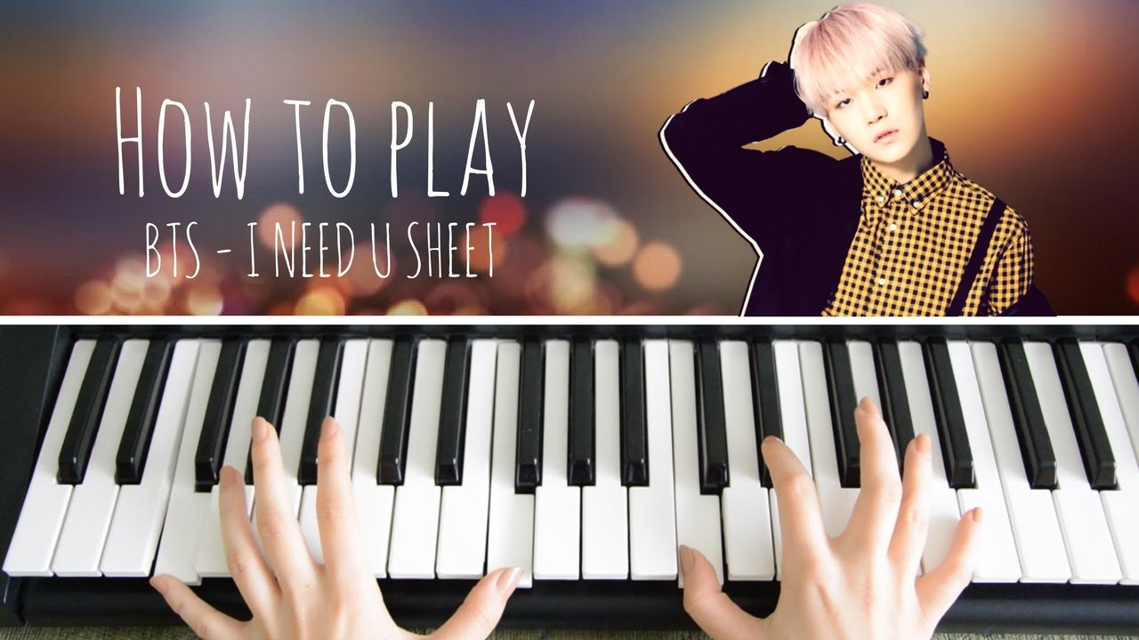 bts suga i need u sheet music piano tutorial chords. Black Bedroom Furniture Sets. Home Design Ideas