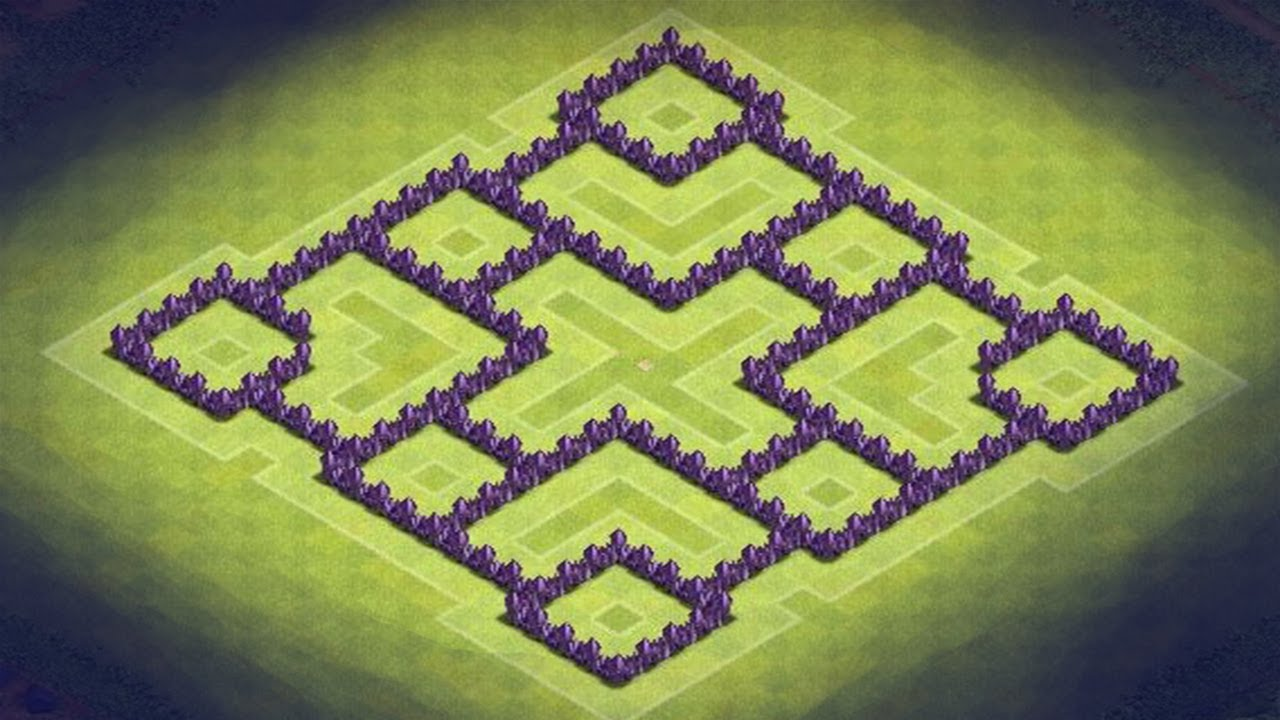 Clash Of Clans! TH7 TRICKY BASE . THE BEST BASE IN THE ...