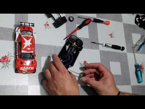 Mercedes C Coupe Scalextric con chasis 3D y Suspension
