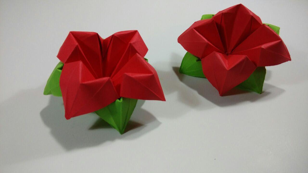 Como Hacer Una Flor De Papel De Cuatro Petalos