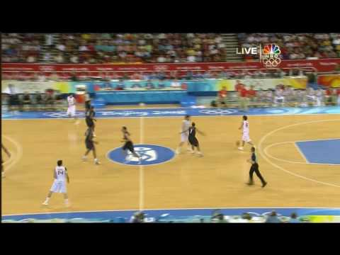 USA vs Spain Beijing 2008 - Gold Medal Game - 1st Half