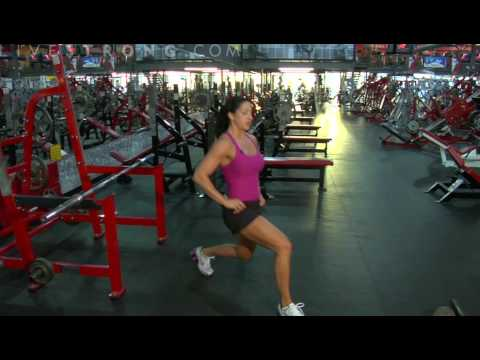 Body Weight Front  Lunge Tutorial Created by LiveStrong.com