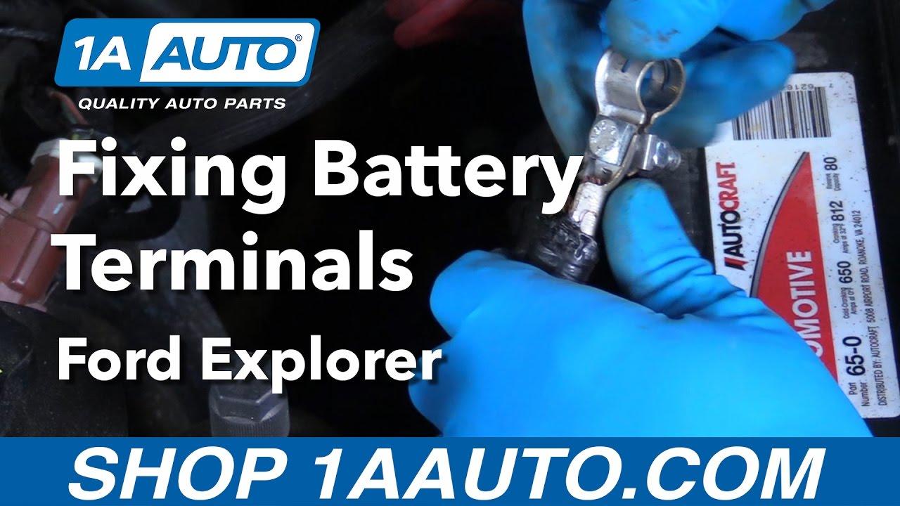 How To Replace Battery Terminal 06 10 Ford Explorer Youtube 2006 Chevy Trailblazer Alternator Plug Wiring