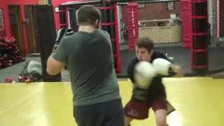 More muay thai kickboxing drills in Leominster Massachusetts at FAA