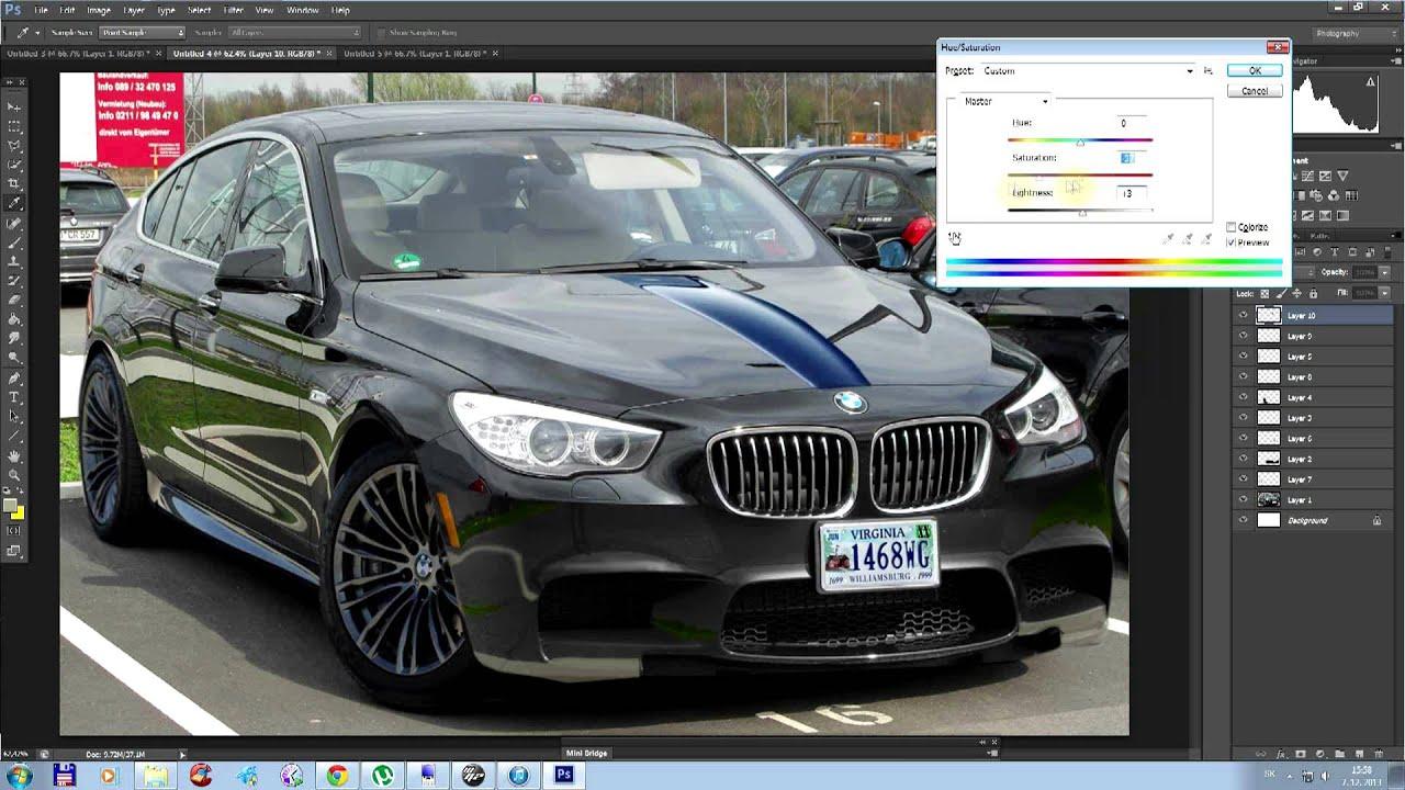 Bmw 5gt To Bmw M5 Gt Virtual Tuning Adobe Photoshop Cs6