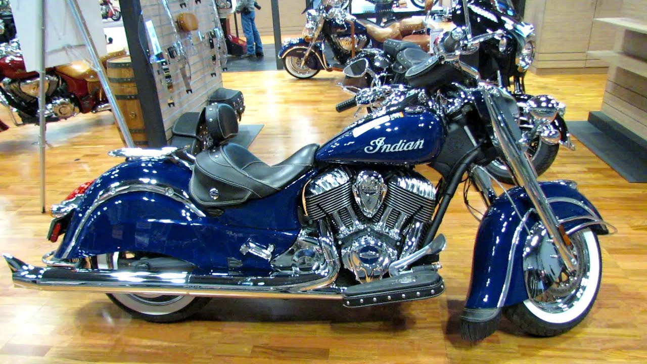 2014 Indian Chief Classic Springfield Blue Walkaround ...