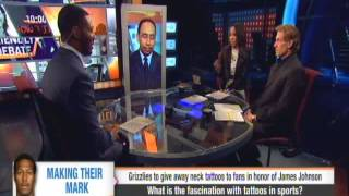 STEPHEN A SMITH AND RYAN CLARK DISCUSS TATTOOS ON ATHLETES AND LACK OF PROFESSIONALISM