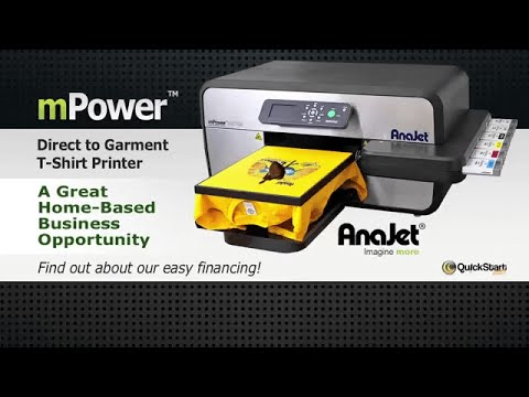 Anajet Mpower Direct To Garment T Shirt Printer T Shirt