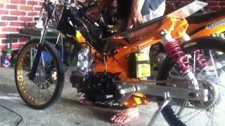Yamaha jupiter drag bike 130cc tune up by s'ko concept ponorogo
