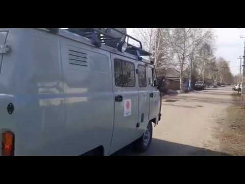 В Усть-Каменогорске спасатели на автомобилях с громкоговорителями предупреждают о режиме ЧП