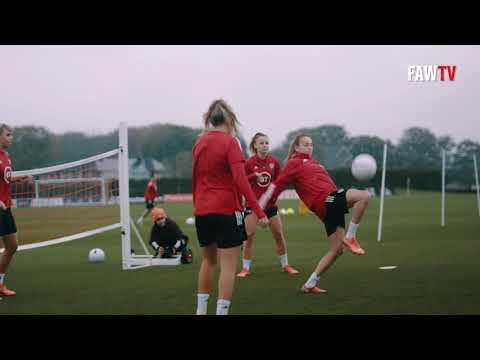 Cymru training behind the scenes