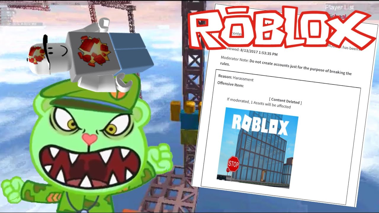 I GOT BANNED ON ROBLOX FOR MAKING INAPPROPRIATE PLACE FOR MICHEAL P