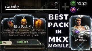 MKX Mobile 1.18 Update. Elite Pack Pro HUGE Opening. SO MANY DIAMOND CHARACTERS!