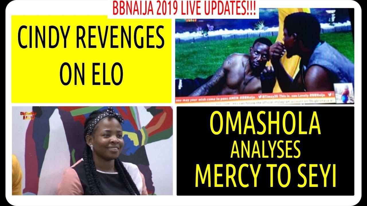 BBNaija 2019 LIVE UPDATES | CINDY REVENGES ON ELO | OMASHOLA ANALYSES MERCY TO SEYI | BBN4 NEWS