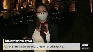 MIRNI PROTESTI U BEOGRADU: Manji broj demonstranata! (KURIR TV)