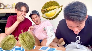 DURIAN VS JAPANESE BROTHERS!   TRY DURIAN CHOCOLATE!! (MAASIM?)