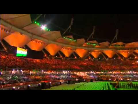 National Anthem Play at Commonwealth Games Delhi 2010 Closing Ceremony