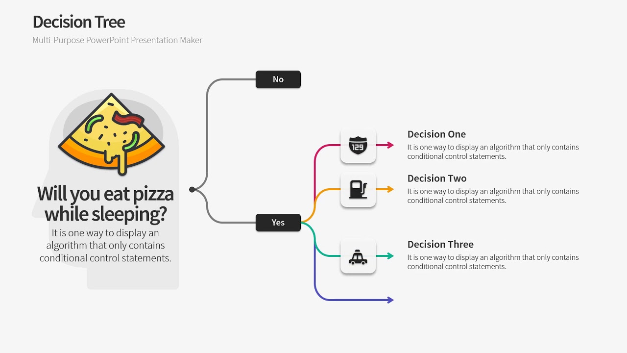Decision Trees PowerPoint Template - Warna Slides
