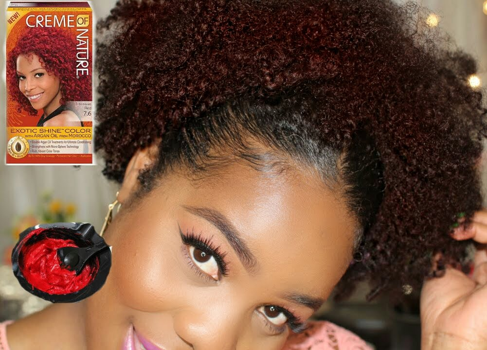 natural hair red color