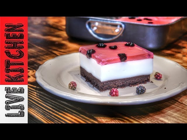 """Δροσερό Γλυκό για τους """"Kαύσωνες""""!!! -Amazing  cherry pudding  jello dessert"""