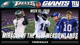 """Miracle at the New Meadowlands"" (Eagles vs. Giants 2010, Week 15)"