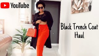 THIS IS HOW I ST¥LE MY BLACK TRENCH COAT | 1 coat 3 different looks | Plus Size Fashion