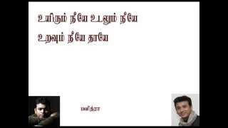 Uyirum Neeye Pavithra Youtube Tamil Karaoke