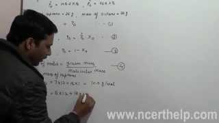 Vapour pressure of an idea solution heptane and octane class 12 ncert solution for chemistry