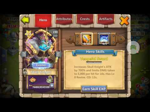 Castle Clash Opening 1 Lv 5 Talent Chest + 2 Legendary Hero Card + 4 Lucky Chest
