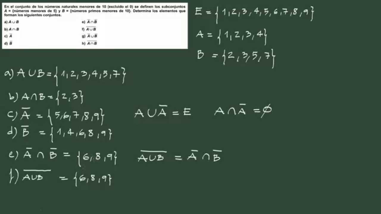 ejercicios de conjuntos resueltos pdf
