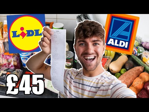 LIDL GROCERY HAUL UK   ALDI VS LIDL 2020   £45 WEEKLY FOOD SHOP   WHICH SUPERMARKET IS CHEAPER?