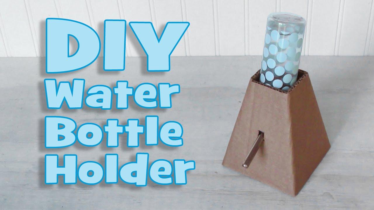 Diy Water Bottle Diy Standing Water Bottle Holder By Hammy Time Youtube