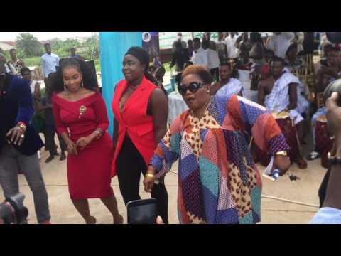 Bill Asamoah, Maame Serwaa, Kwaku Manu, Emelia Brobbey and others at Zylofon media opening in Kumasi