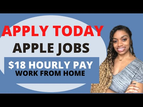 Apple Is Hiring At Home Advisors Pay Is $18 Hourly. *Job Wont Last*
