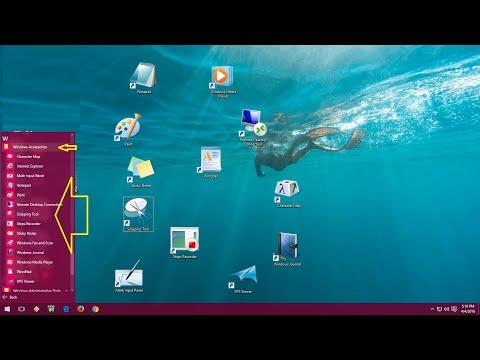 How to Create Desktop Shortcut of Windows Accessories in Windows 10/8.1