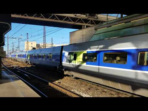 UltraHD 4K TGV Ressau as TGV 9810 Brussels-Marseilles
