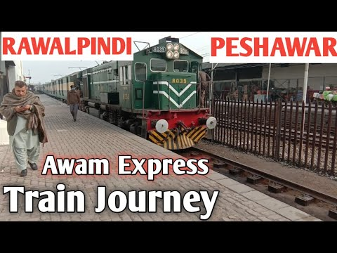 Full Train Journey| Rawalpindi to Peshawar| 13 Up Awam Express Train| Railway Pakistan