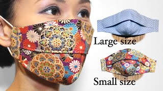 3D Pleated Face Mask Tutorial DIY Free Printable Pattern Mask Large Small Size