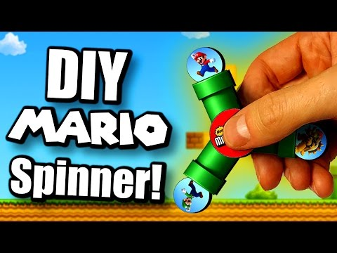 How to Make a Super Mario Bros. Spinner! FAST & EASY!!!